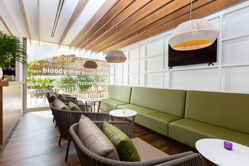 Aimia Hotel - Bar TV corner