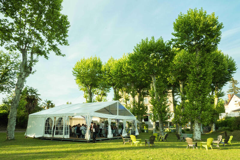 Garden Party at Hôtel du Parc in Salies-de-Béarn, France