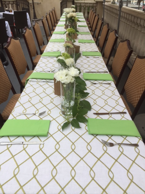 family gathering tablescape