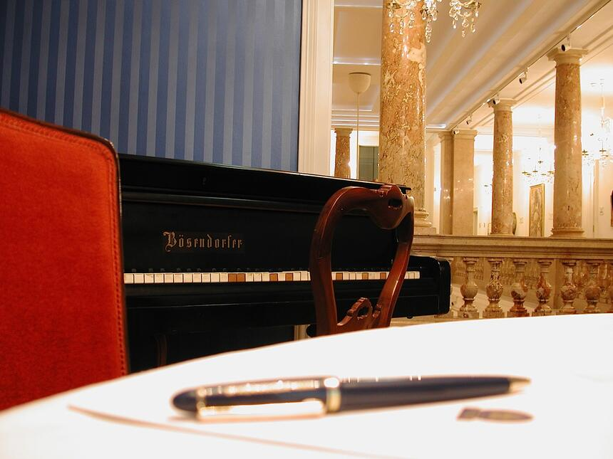 Meeting room detail at Ambassador Vienna Hotel