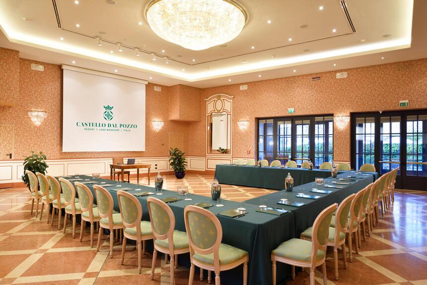 Meeting room at Castello dal Pozzo in Oleggio Castello, Italy