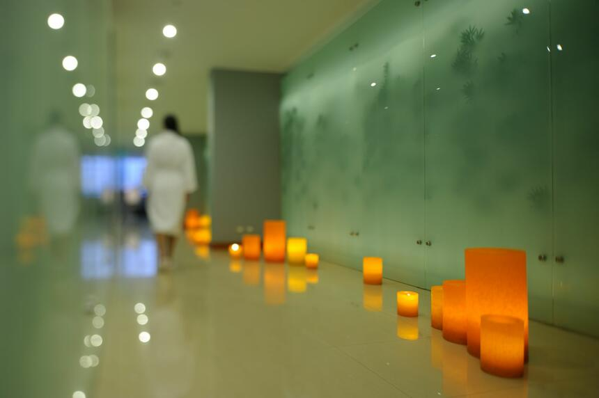 soothing & relaxing Spa Décor at NOI Vitacura hotel