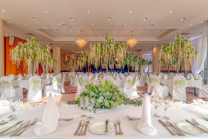 City Hotel Derry Ballroom Decorated For A Wedding