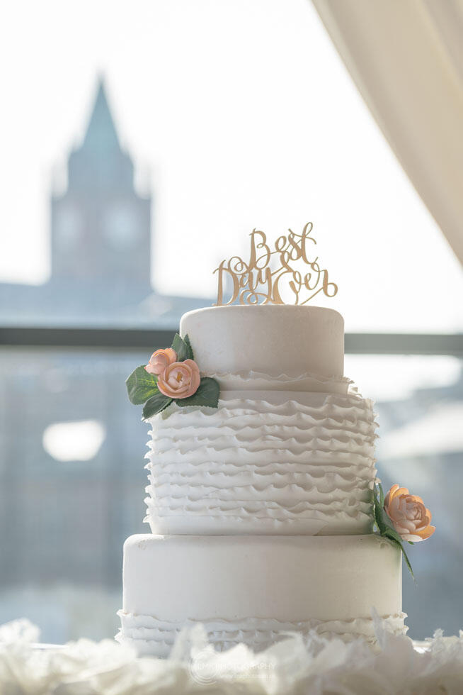 City Hotel Derry Ballroom View Of Wedding Cake By Window