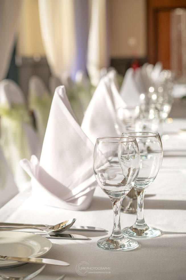 City Hotel Derry Ballroom Table Setting