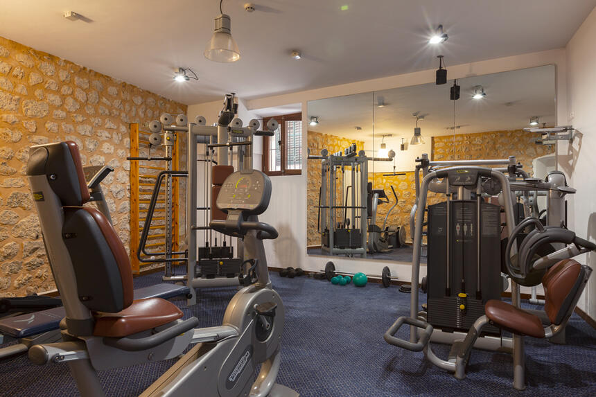 Gym at Gran Hotel Sóller in Sóller, Majorca