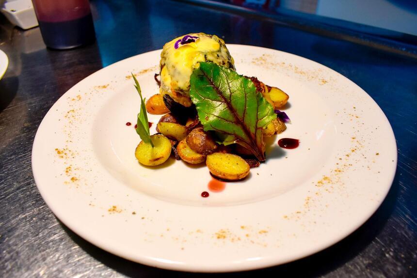 Well served & plated dish in Kosten Restaurant at NOI Indigo