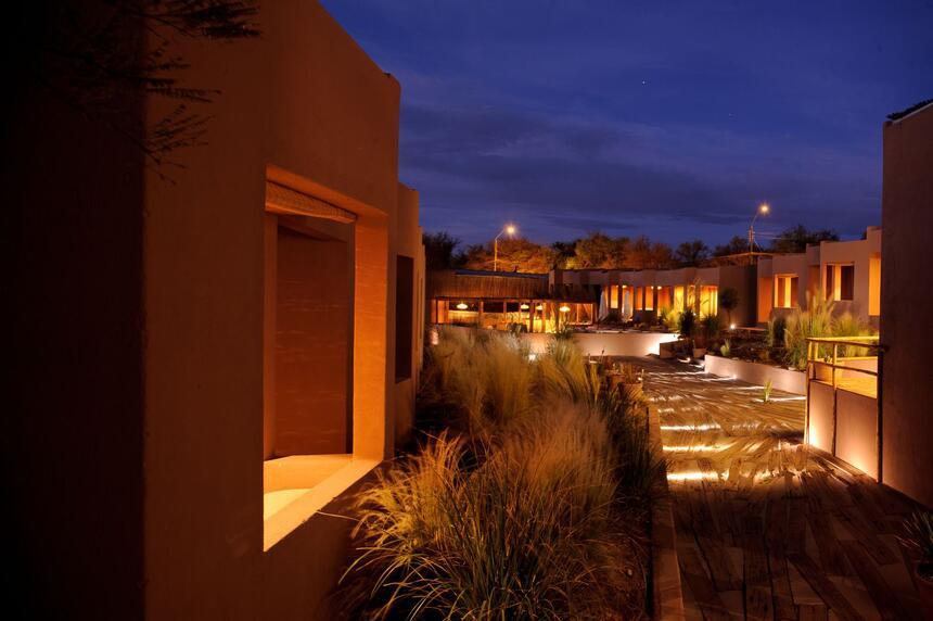 view of the exterior of hotel rooms at NOI Casa Atacama Hotel