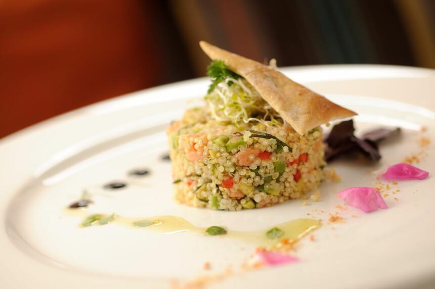 vibrant dish from NOI Casa restaurant at NOI Casa Atacama Hotel