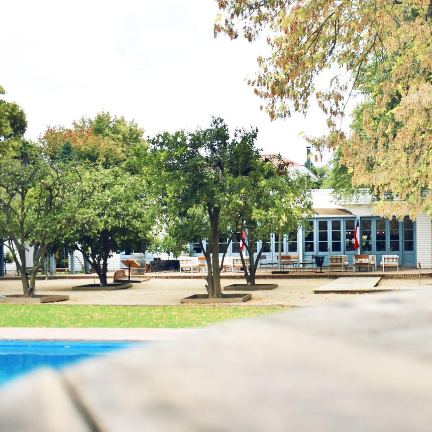 Surrounding of the hotel with the pool at Noi Blend Colchagua