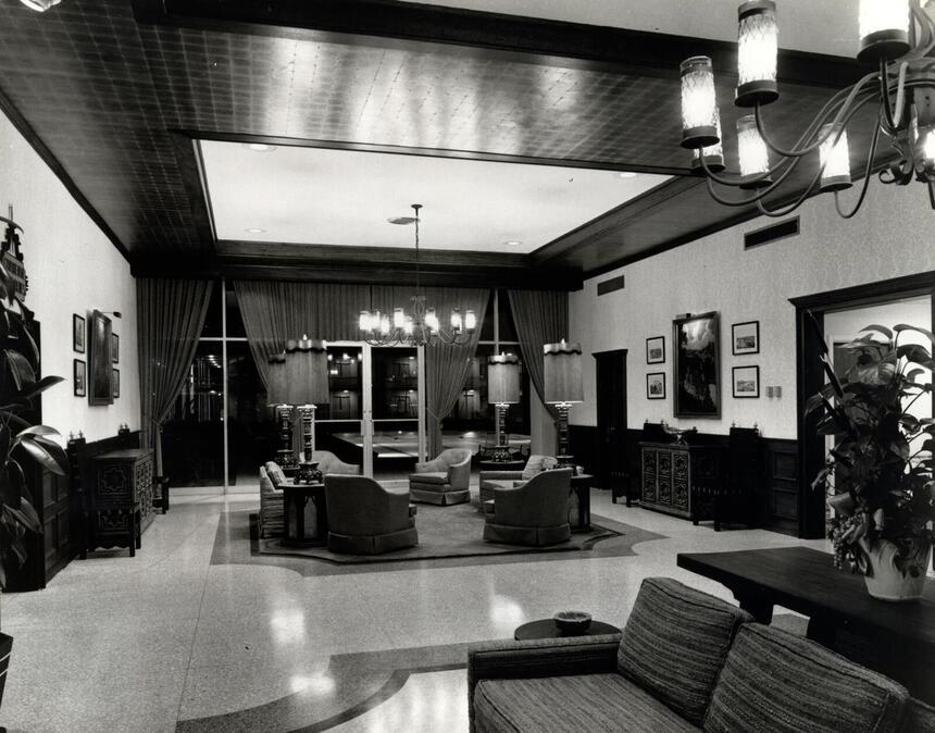 Historic Photo of Hotel Lobby
