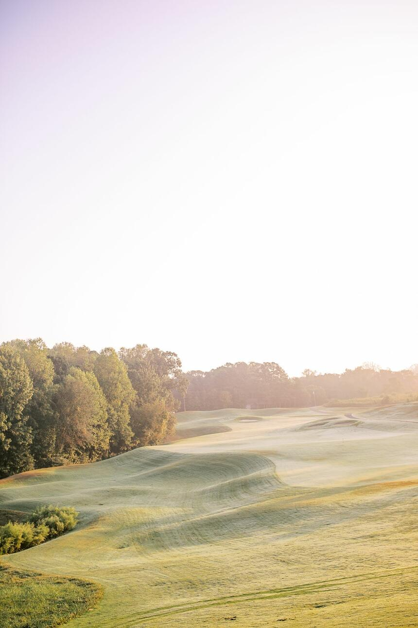 golf course in the early morning
