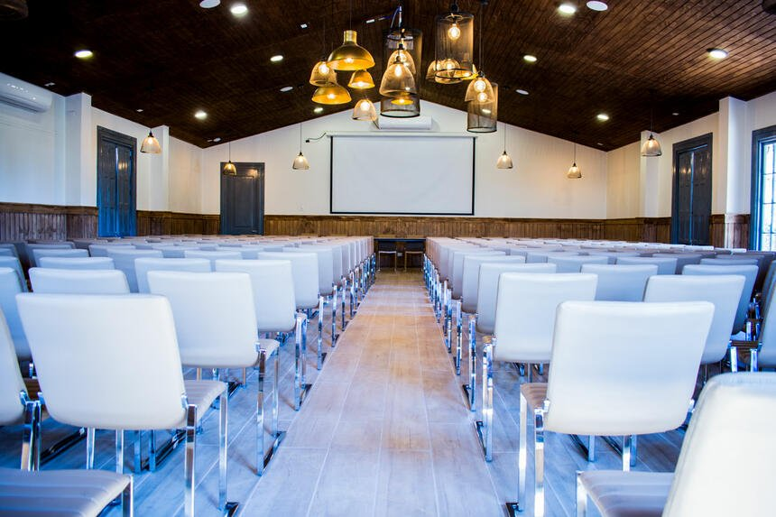 Mass seating area in the Event Room at Noi Blend Colchagua