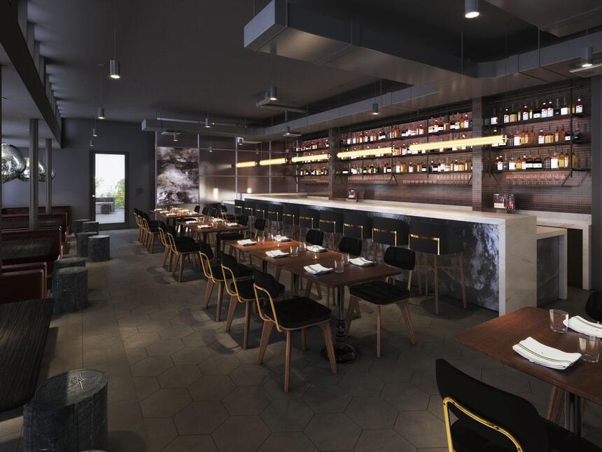 Blue Owl Bar Interior