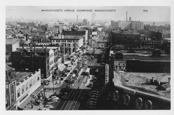 Black & White Historic Photo of Massachusetts Ave