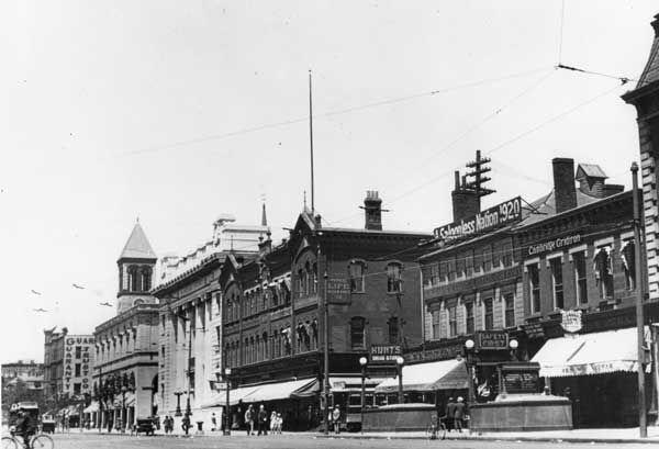 Black & White Historic Photo of Central Square