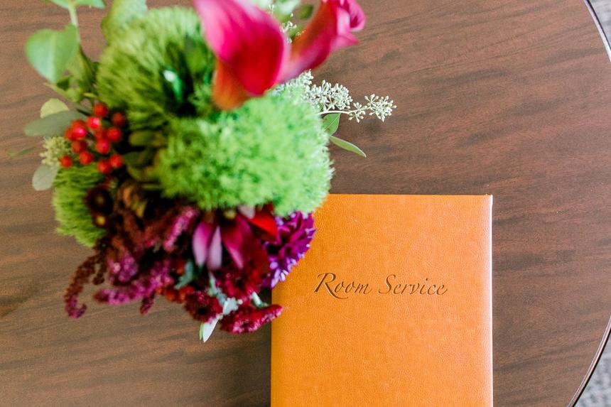 flowers with room service menu