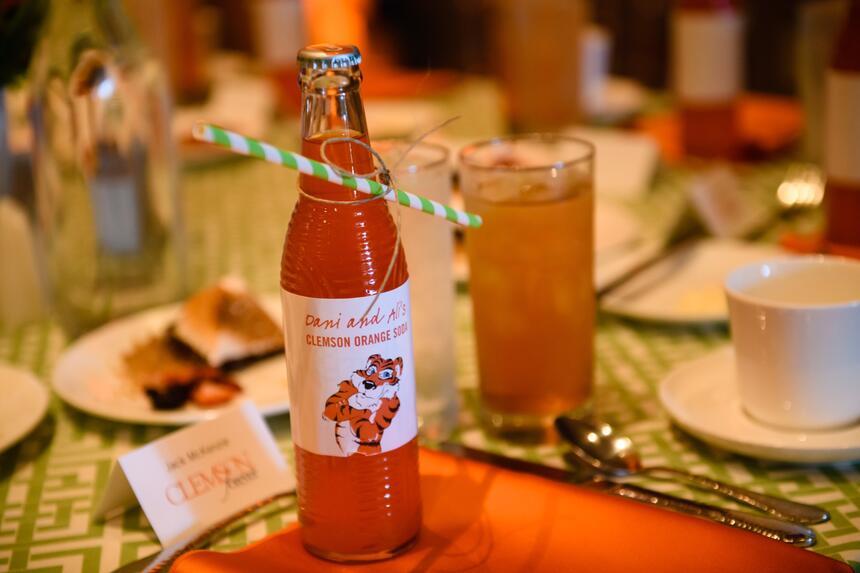 bottle of clemson orange soda