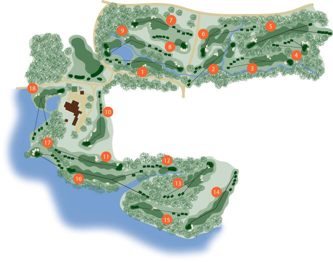 clemson golf course map