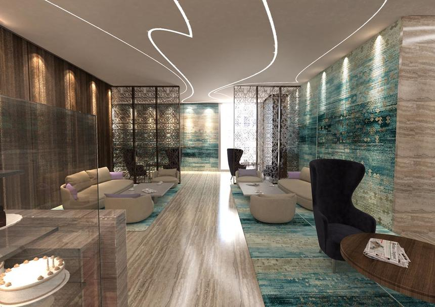 Lobby at Jouri, A Murwab Hotel in Doha, Qatar