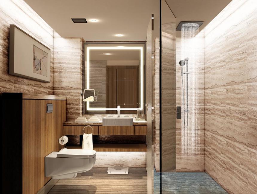 Bathroom at Jouri, A Murwab Hotel in Doha, Qatar
