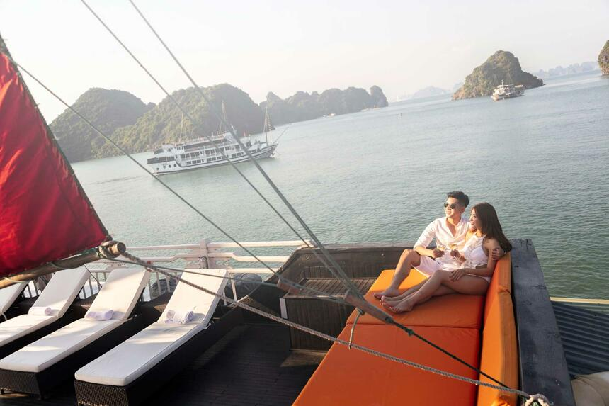 Syrena Cruises - Best Halong Bay Cruises  - Sundeck