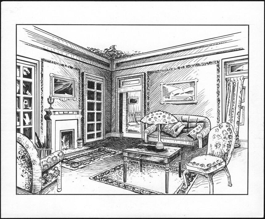 Parlor Room Sketch