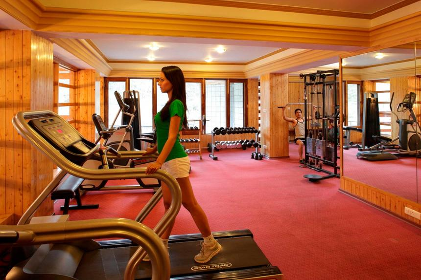 Gym at ManuAllaya Resort Spa Manali in Himachal Pradesh, India
