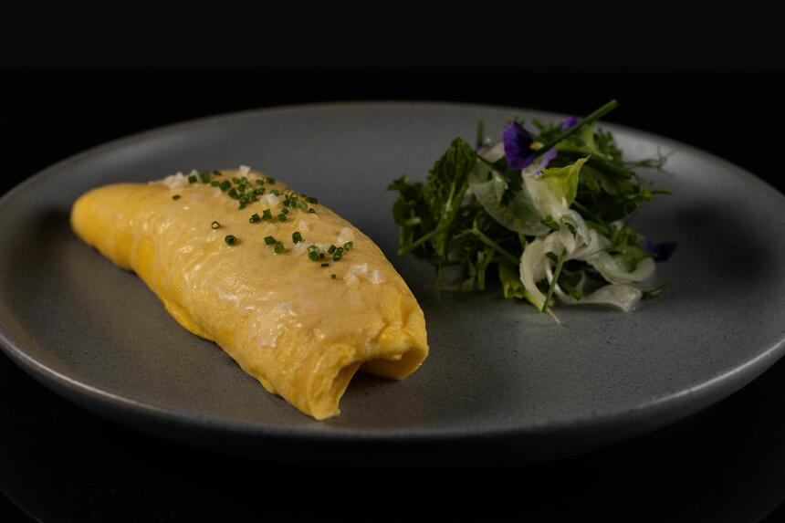 a freshly cooked omelette