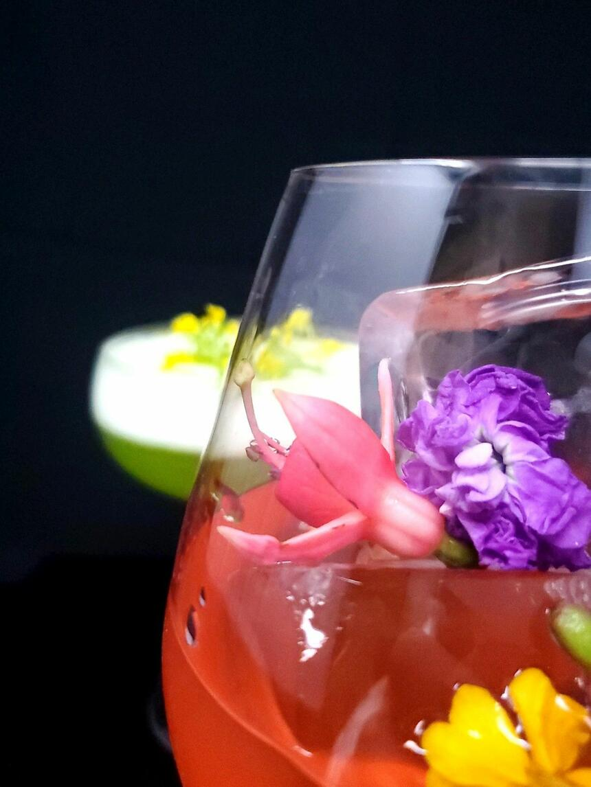 a freshly made cocktail