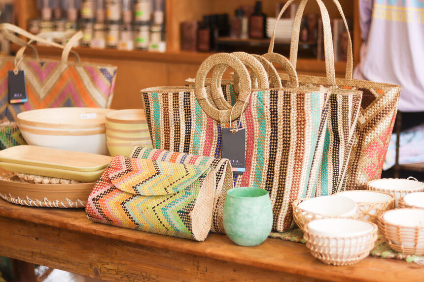 bags in a gift shop