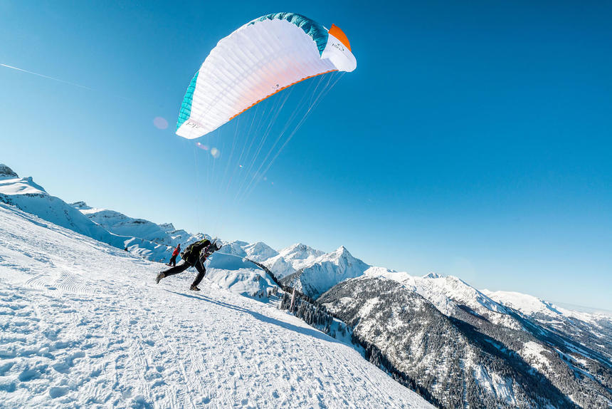 paragliding in Tannheimer Valley