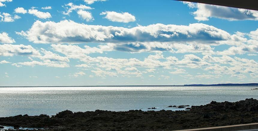 Stunning beach & blue sky