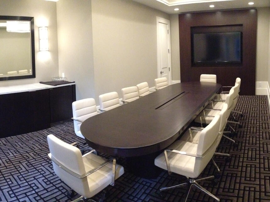 a large conference table