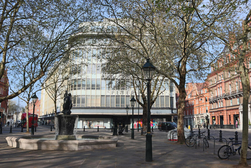 Front view of Peter Jones at Sloane Square Hotel