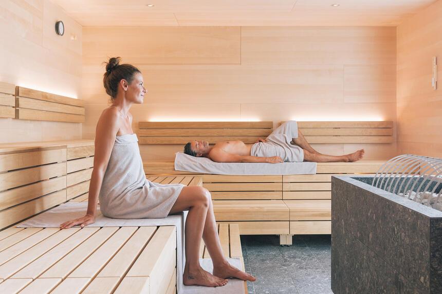 Saune in Cinderella Caste Spa, Hotel Liebes Rot Flüh, Haldensee