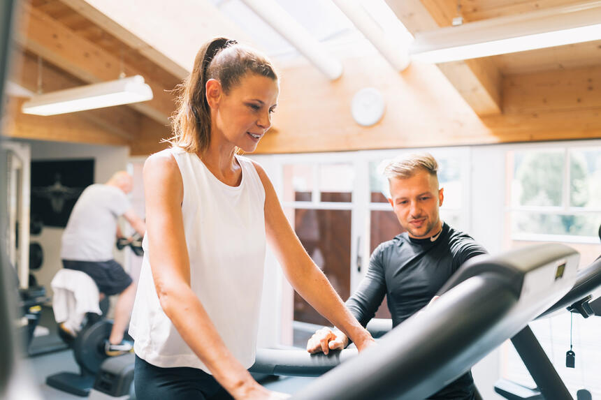 Personal Fitness Training im Hotel Liebes Rot Flüh, Haldensee Ti