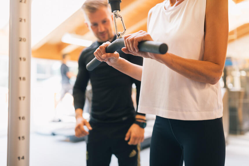 Personal Fitness Trainer im Hotel Liebes Rot Flüh, Haldensee Tir