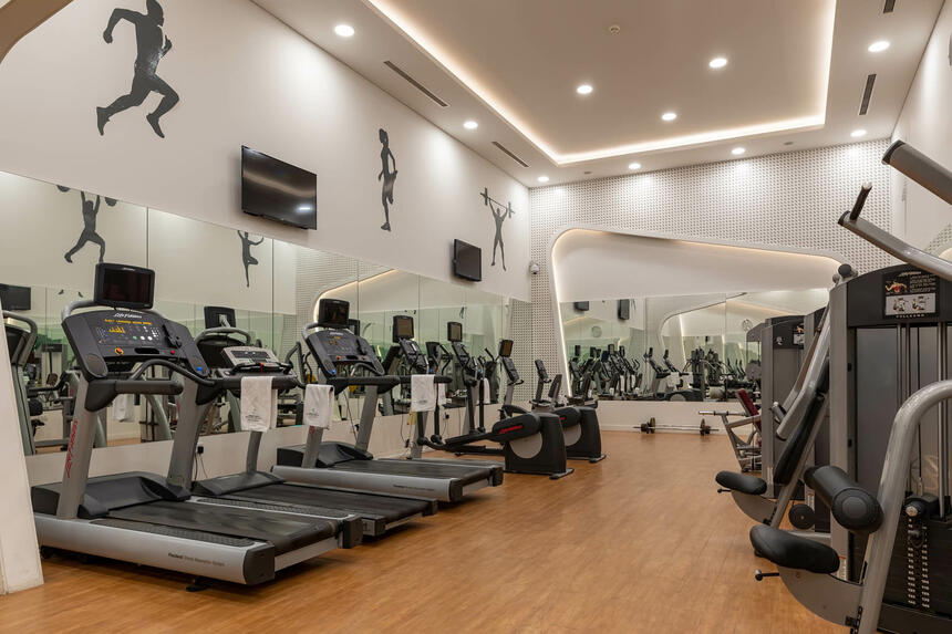Fitness Gym Treadmills in Sealine Beach Resort
