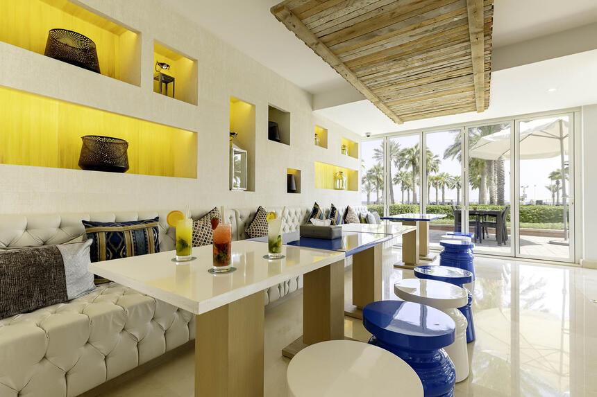 Al Odaid Restaurant Interior with sea view