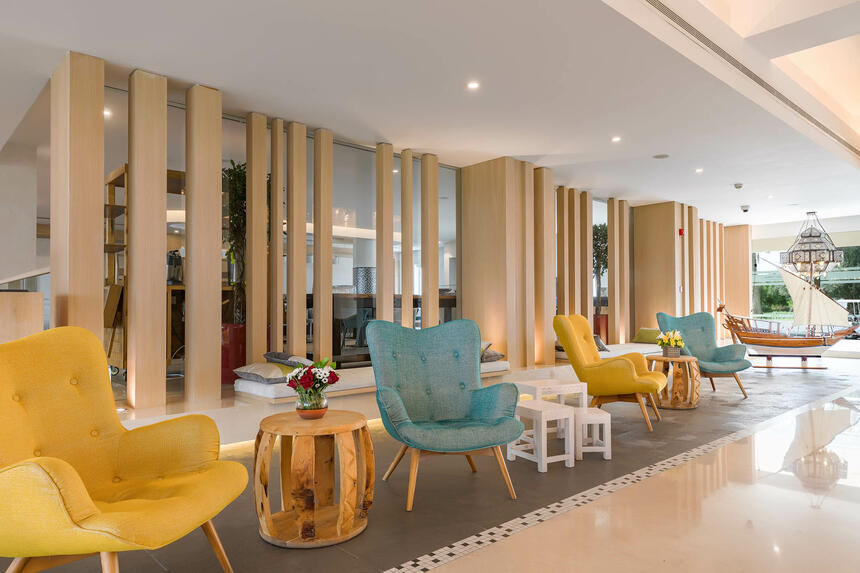 Comfortable Chairs in Hotel Lobby