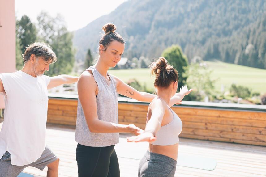 Personal Yoga im Hotel Liebes Rot Flüh, Haldensee Tirol