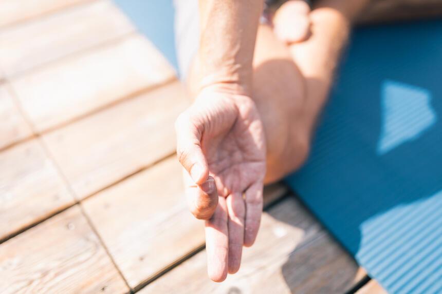 Personal Yoga Stunden im Hotel Liebes Rot Flüh, Haldensee Tirol