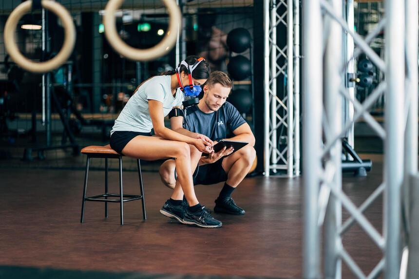 Personall Fitness Diagnose mit Dynostics im Hotel Liebes Rot Flü