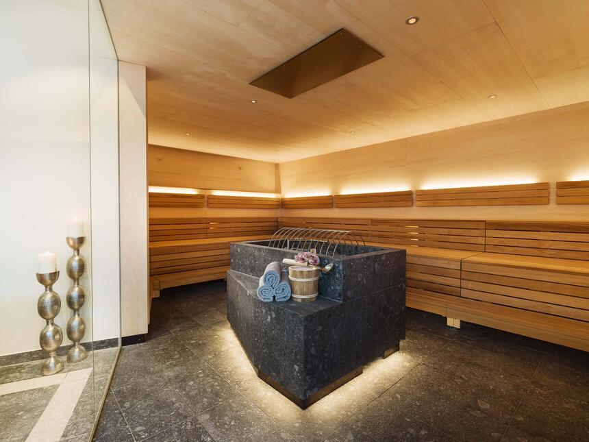 Saunaraum im Hotel Liebes Rot Flüh, Haldensee Tirol