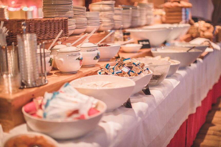 Breakfast Buffet at Hotel Liebes Rot Fluh