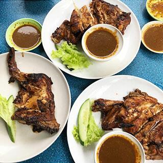 Malaysia port dickson local food ayam bakar station roasted  chi