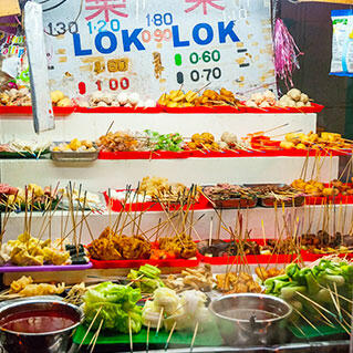 penang street food: lok lok