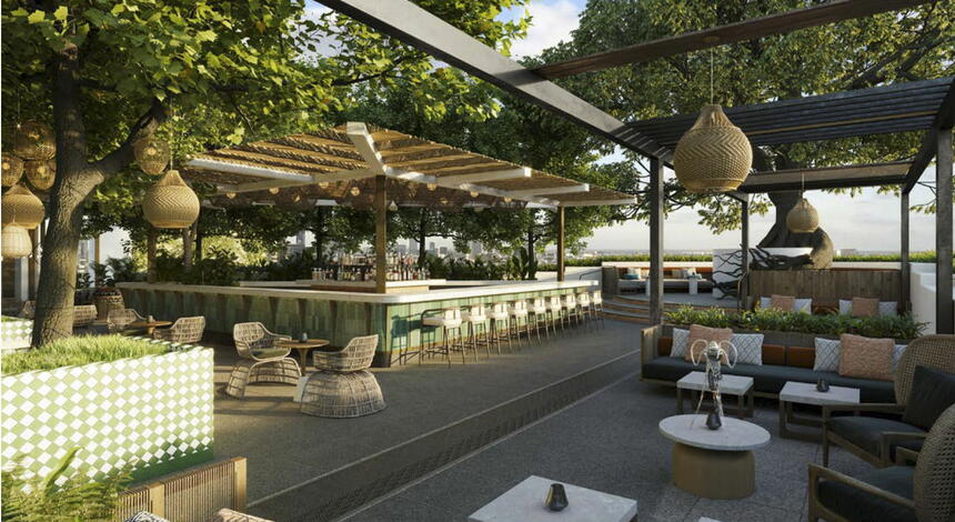 Outdoor Terrace table  with chairs & sofa sets at Dream Doha