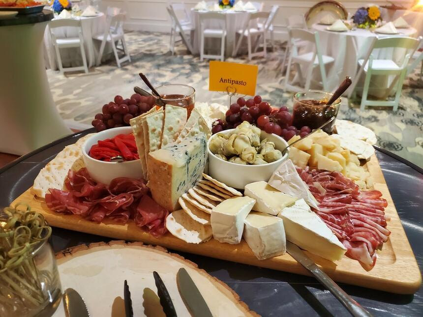 Close up on antipasto menu foods at Palmera Inn & Suites